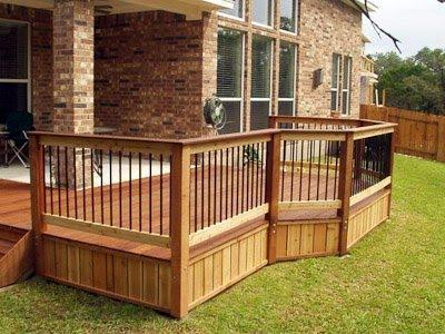 wooden Deck-and-rail